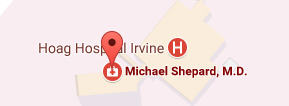 Dr Shepard sees patients at the Irvine Location on Fridays Google Map